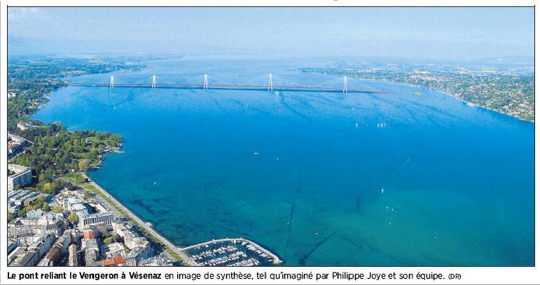 Pont sur la Rade selon Philippe Joye