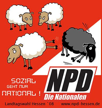 affiche NPD Hesse reprenant celle de l'UDC