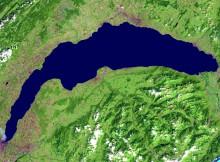 Photo satellite du Lac Léman